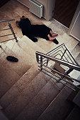 woman fallen
